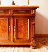 Antique Sideboard / Burr Walnut Sideboard / Walnut Cupboard (8 of 10)