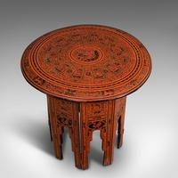 Antique Occasional Table, Oriental, Coffee, Lamp, Stand, Victorian c.1850 (5 of 12)