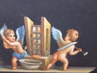 Watercolour Mischievous Putti Listed Artist E P Fenderico (6 of 14)