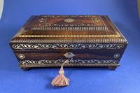 Regency Rosewood Table Box with Brass Foliate Inlay (7 of 12)