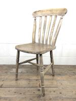 Set of Four Antique Farmhouse Kitchen Chairs (3 of 15)