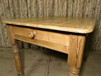 Victorian Pine Kitchen Table c.1860 (3 of 8)