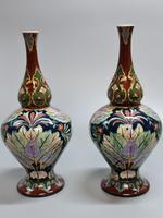 Stunning Pair of Royal Bonn Art Nouveau Vases 'Old Dutch' c.1910 (7 of 14)