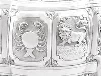 Sterling Silver Three Piece Zodiac Tea Service - Antique Victorian 1882 (17 of 24)