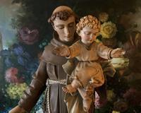 Bohumil Kafka RARE Carved Statue Sculpture St Anthony & Jesus (14 of 32)