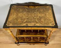 Victorian Inlaid Walnut Canterbury What Not (4 of 11)