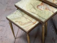 Nest 3 Onyx & Brass Tables (7 of 16)