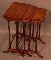 Regency Nest of Three Tables in Satinwood (5 of 8)
