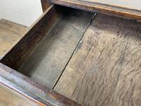 Antique Oak Two Drawer Side Table (7 of 14)
