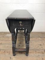 Antique 19th Century Small Oak Gateleg Table (7 of 8)