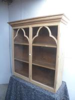 Georgian Antique Pine Wall Hanging Kitchen / Utility Cabinet to Wax / Paint
