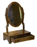 19th Century Mahogany Oval Dressing Table Mirror (4 of 6)