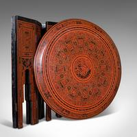 Antique Occasional Table, Oriental, Coffee, Lamp, Stand, Victorian c.1850 (12 of 12)
