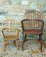 Child's Antique Oak Windsor Chair (9 of 9)