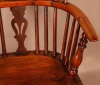 Yew Wood Low Back Windsor Chair Rockley Maker (8 of 10)