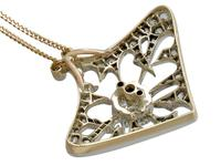 4.21ct Diamond & 18ct Yellow Gold Pendant / Brooch - Antique French c.1900 (7 of 16)