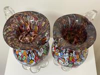 2 Beautiful Italian Murano Fratelli & Torso Millefiori Glass Vases (7 of 34)