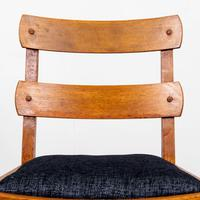 Set of 6 1930s Golden Oak Dining Chairs in the Manner of Heal's (11 of 16)