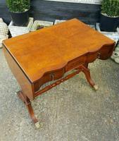 Antique Design Walnut Serpentine Front Desk (2 of 7)