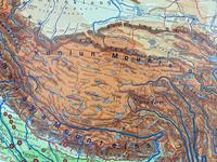 Large Vintage Westermann Wall Map of East & South-East Asia 1960's (6 of 11)