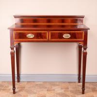 Edwardian Inlaid Mahogany 2 Drawer Side Table (2 of 15)