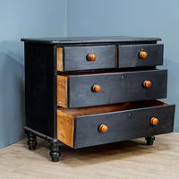 Vintage Painted Chest Of Drawers Black (7 of 7)