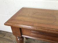 Long Victorian Mahogany Hall Bench (9 of 11)