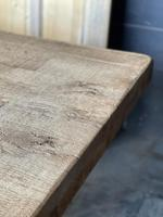 Superb Rustic Large Bleached Oak Farmhouse Table with Extensions (17 of 36)