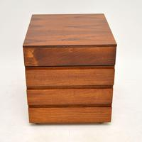 Danish Rosewood Filing Chest of Drawers Vintage 1960's (5 of 9)