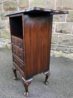 Antique Mahogany Bedside Cabinet (4 of 8)