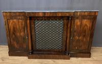 Beautiful Regency Rosewood 3 Door Breakfront Cabinet (4 of 11)