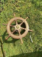 Oak & Brass Ships Wheel (4 of 11)