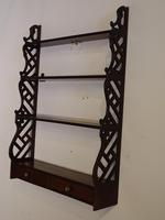 Most Attractive Chippendale Period Mahogany Hanging Rack (2 of 4)