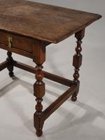 Late 17th / Early 18th Century Single Drawer Oak Side Table (2 of 6)