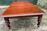 Very Large Victorian Mahogany Extending Dining Table (9 of 16)