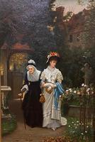 Fine Quality Ornately Framed Oil on Canvas Entitled 'Sunday Best' by Victorian Artist Arthur Langley Vernon (2 of 6)