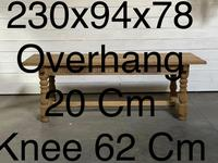 Superb Quality Large Bleached Oak Farmhouse Dining Table (31 of 32)