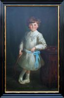 Gilbert Baldry (1876-1928) A Large Exceptional Edwardian Oil Portrait Painting