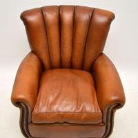 French Style Leather Club Armchair (3 of 6)