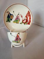 Early Worcester Chinoiserie Tea Bowl & Saucer (5 of 6)