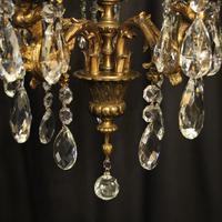 Italian Pair of 5 Light Antique Chandeliers (8 of 8)