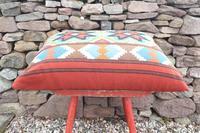 Swedish 'Folk Art' Vintage Large Woven Röllakan Cushion c.1930 (17 of 26)