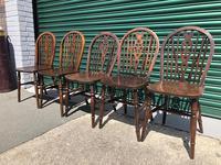 Harlequin Set 10 Ash & Elm Kitchen Chairs (10 of 10)