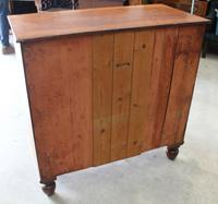 1900's Mahogany Square Front Chest Drawers with Wooden Knobs (4 of 4)