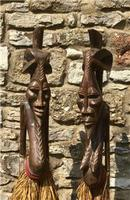 Very Large Pair of Senufo Hand Carved Wooden Figures. Ivory Coast West Africa (2 of 7)