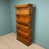 Tall Golden Oak Globe Wernicke Stacking Barristers Bookcase (3 of 7)