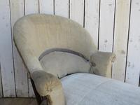 Antique French Chaise Longue Day Bed for re-upholstery (7 of 9)