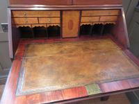 Fine George III Period Flame Mahogany Bureau Bookcase (5 of 9)