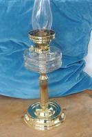 Original Victorian Cut Glass & Brass Oil Lamp - c.1900 Working Order (2 of 7)