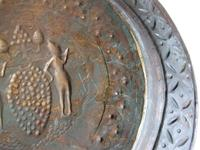 Flemish or German Brass Alms Dish 17th / 18th Century, Grapes of Canaan (7 of 10)